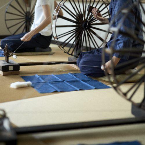 つちや織物所 奈良 木綿手紡ぎの会 工房展